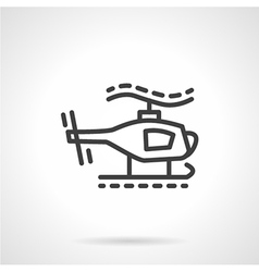 Toy helicopter simple line icon vector