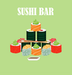 traditional japanese food concept vector image