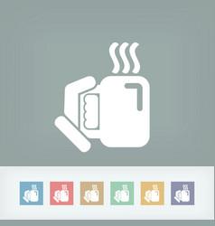 warm beverage vector image