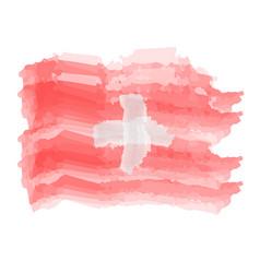 watercolor flag of switzerland vector image