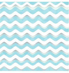 White wave seamless pattern vector