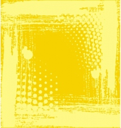 yellow structure vector image