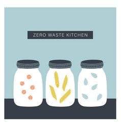 zero waste kitchen vector image