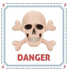 Danger symbol with skull and crossbones vector image vector image