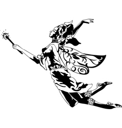 Fairy Silhouette vector image