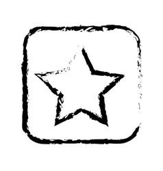 contour symbol star icon vector image vector image
