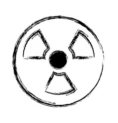 figure radiation symbol to dangerous and ecology vector image vector image