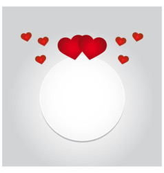 greeting card with hearts and space for text vector image vector image