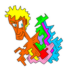 imaginative face draw vector image vector image