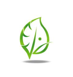 leaf man logo vector image