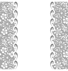Stylized floral ornament vector image vector image