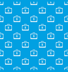 briefcase full of money pattern seamless blue vector image