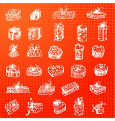 collection of gift packages vector image vector image