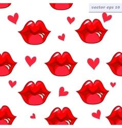 lip pattern vector image vector image