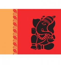 lord ganesh vector image vector image