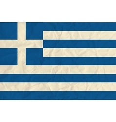 Greece paper flag vector image