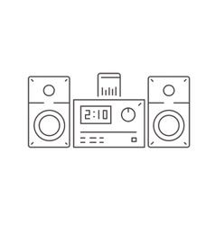 Icon of modern stereo system with dock station for vector image