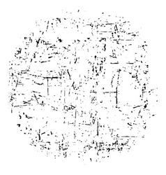 light grunge texture round vector image