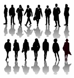 Professional people silhouettes vector