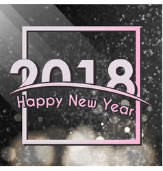 2018 happy new year glitter shining pattern vector image