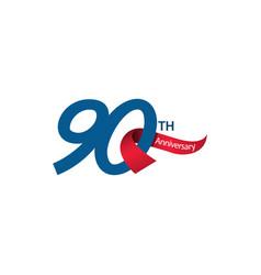 90 th anniversary template design vector