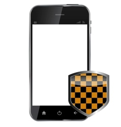 Abstract design realistic mobile phone with vector image