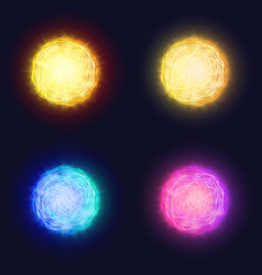 Abstract glowing solar lens flare effect of vector