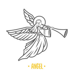 angel god vector image