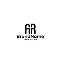 Ar church logo design vector