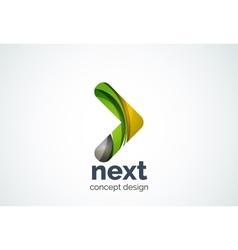 Arrow logo template next or right concept vector