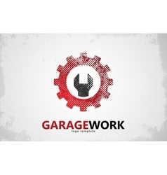 Auto repair Garage work logo Auto service vector