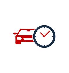 Automotive time logo icon design vector