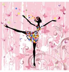 Ballerina girl vector