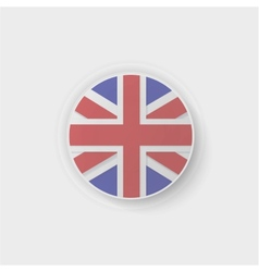 britain flag button vector image