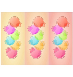 bubbles background with three lines vector image