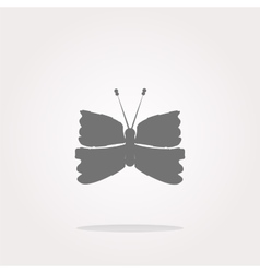 Butterfly Icon on Internet Button isolated vector image