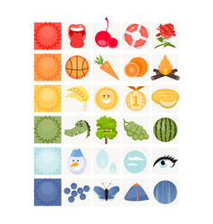 card for learning basic colors vector image
