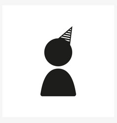 celebration icon in simple black design vector image