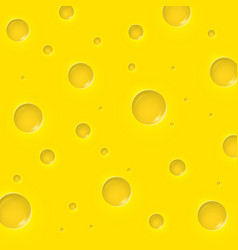 Cheese slice seamless texture background vector