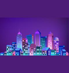Cityscape landscape ultraviolet vector