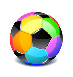 colorful soccer ball isolated on white vector image