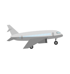 commercial airplane sideview icon image vector image