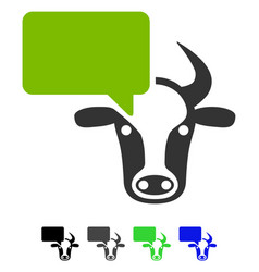 Cow opinion flat icon vector