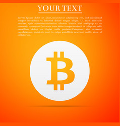 cryptocurrency coin bitcoin icon isolated vector image