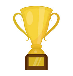 cup winner icon flat cartoon style isolated on vector image