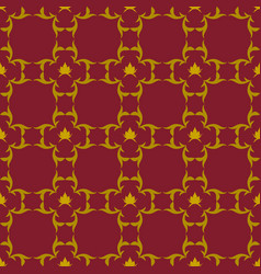 dark red background with beautiful gold ornaments vector image