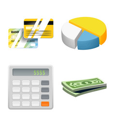 design of bank and money icon collection vector image