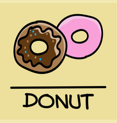 Donut hand-drawn style vector
