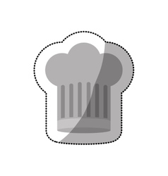 Dotted sticker of chefs hat shading and large vector