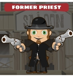 Fictional cartoon character - former priest vector